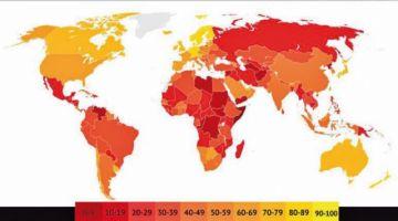 Índice de Percepción: Bolivia sigue entre los países más corruptos