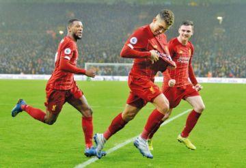 Liverpool supera al equipo de Wolverhampton en la Premier League