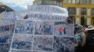Pobladores de Cantería alta se movilizan