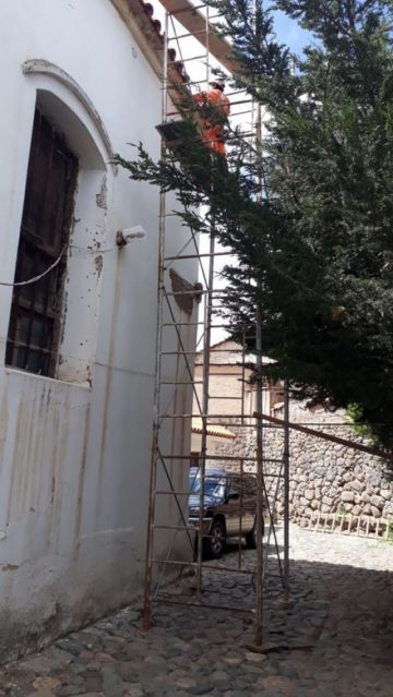 Iniciaron los trabajos en  los techos de San Pedro