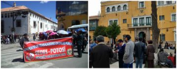 Salubristas radicalizan bloqueo con cierre del oficinas al sur de Potosí