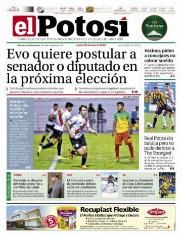 La nueva jugada de Evo salta en las portadas de varios periódicos nacionales