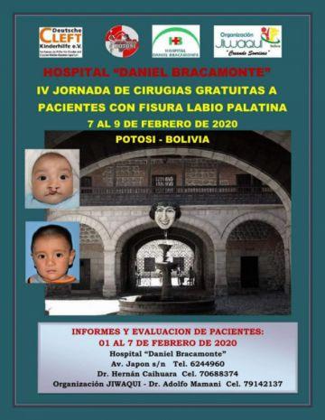 Lanzan campaña gratuita en el Bracamonte para pacientes con labio leporino