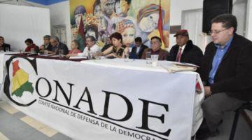Conade convoca a una marcha y pide unidad a opositores de Morales