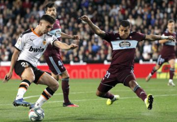 Valencia gana a Celta con un gol de Carlos Soler