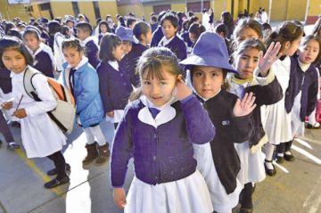 Hoy inician clases en todas las unidades educativas de Potosí