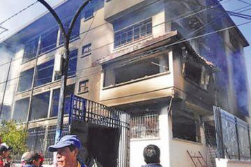 Anuncian primera imputación por quema del edificio del TED