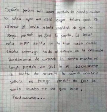 Aparece la bebé raptada en El Alto junto a una nota de arrepentimiento