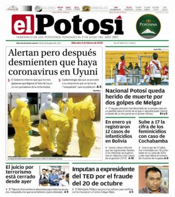 El coronavirus lucha contra el fin del caso terrorismo en las portadas