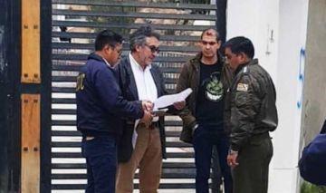 Aprehenden a Gustavo Torrico por los presuntos delitos de sedición y terrorismo