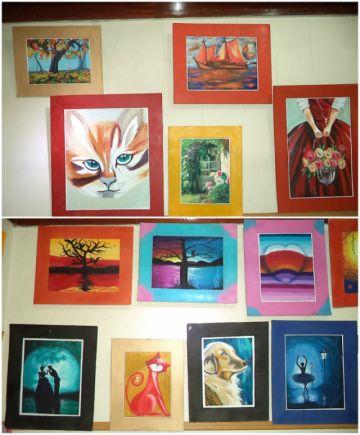 Exponen las piezas de arte  de los cursos  vacacionales