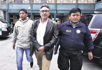 Gustavo Torrico es llevado a celdas judiciales