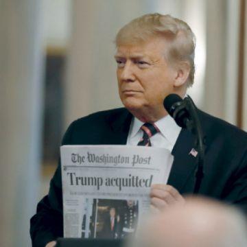 Trump celebra con un vengativo y crudo discurso