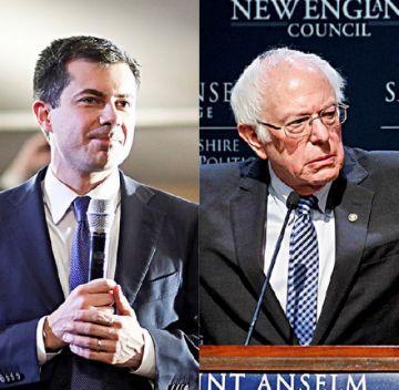 Virtual empate entre Buttigieg y Sanders