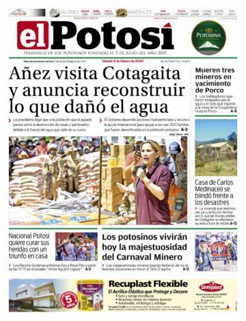 Cotagaita está en las portadas por segundo día consecutivo