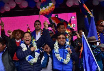 """Arce llama a enfrentar al """"Gobierno sangriento"""" y Choquehuanca ofrece paz"""