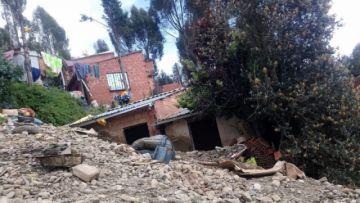 La Paz: una mazamorra deja un fallecido y a 12 familias sin vivienda