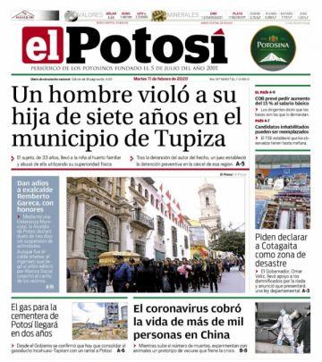 Las lluvias humedecen las tapas de los diarios bolivianos