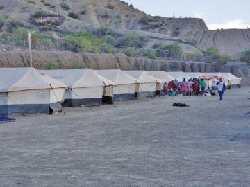 La Cruz Roja instala campamento de atención a afectados en Cotagaita