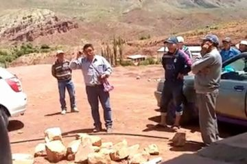 Desconocidos avasallan  tierras en Palcamayu y amenazan con quema