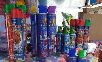 Sedes verificará que las espumas de carnaval tengan registro sanitario