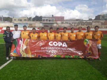 Potosí y Tarija empatan en el fútbol de varones