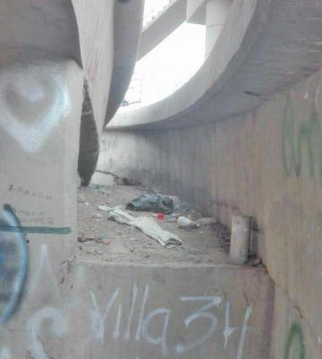 Denuncian inseguridad bajo el puente Caracol