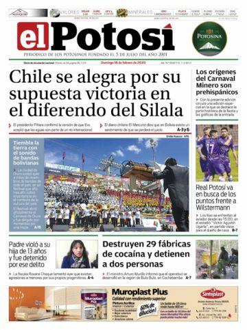 La alegría de Chile por el Silala está en las tapas del domingo