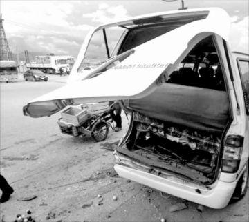 Colisión en cadena de cinco vehículos provoca 4 heridos