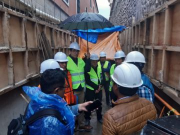 Ministerio de Culturas inspecciona obras de calle Junín y templos