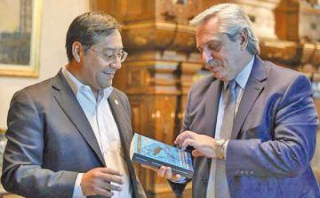 Presidente de Argentina recibe al candidato Luis Arce en La Casa Rosada