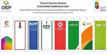 Papeleta electoral ubica al principio a Creemos y a la conclusión a Juntos