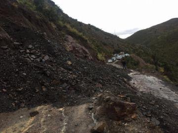 Colavi está aislada de la capital potosina por derrumbes