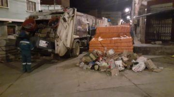 EMAP recoge desechos en horario nocturno
