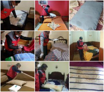 Inspeccionan condiciones sanitarias en alojamientos