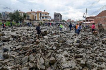 Hay más de 90 familias afectadas por la mazamorra en Tiquipaya