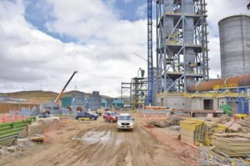 Obras de la cementera estarán paradas hasta garantizar gas natural
