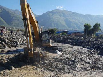 Cesan las lluvias y las labores de limpieza continúan en Tiquipaya