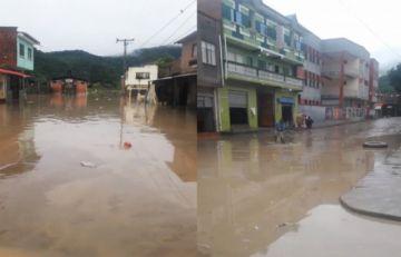 Guanay se inundó y vecinos trabajaron para salvar sus enseres