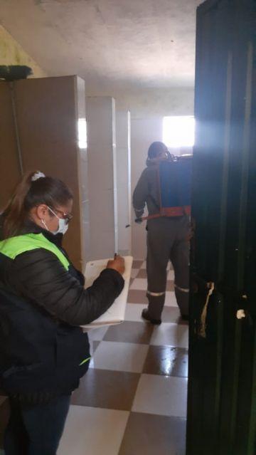 Sedes desinfecta centro de rehabilitación Cantumarca