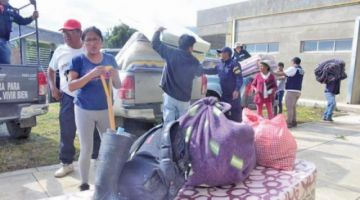 Tiquipaya: más de 45 familias damnificadas son trasladadas a otros ambientes