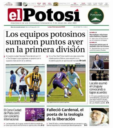 La muerte de Cardenal se impone en los periódicos bolivianos