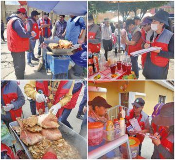 El Sedes verificó comida y bebida en entrada carnavalera