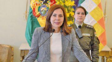 Karen Longaric asegura que 7 abogados trabajan en caso manantial Silala