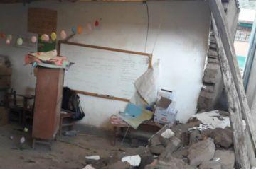 Lluvias dañan dos infraestructuras educativas en el Departamento
