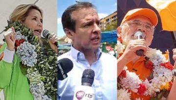 Añez, Mesa y Tuto Quiroga se ponen a ritmo de campaña electoral en La Paz
