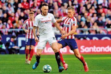 """Sevilla empata a Atlético en el """"Metropolitano"""""""