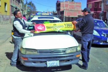 """Retoman programa """"Taxi seguro"""" frente a la inseguridad ciudadana"""