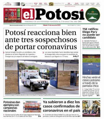 El coronavirus sigue dominando en la prensa nacional