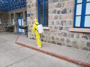 El Sedes desinfecta los lugares en los que estuvieron los pacientes sospechosos de COVID-19